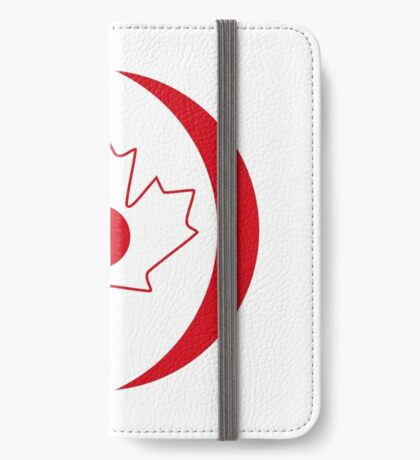 Japanese Canadian Multinational Patriot Flag Series iPhone Wallet