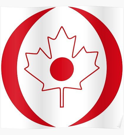 Japanese Canadian Multinational Patriot Flag Series Poster