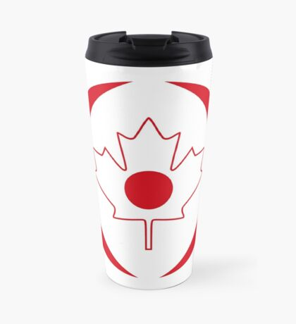 Japanese Canadian Multinational Patriot Flag Series Travel Mug