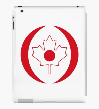 Japanese Canadian Multinational Patriot Flag Series iPad Case/Skin