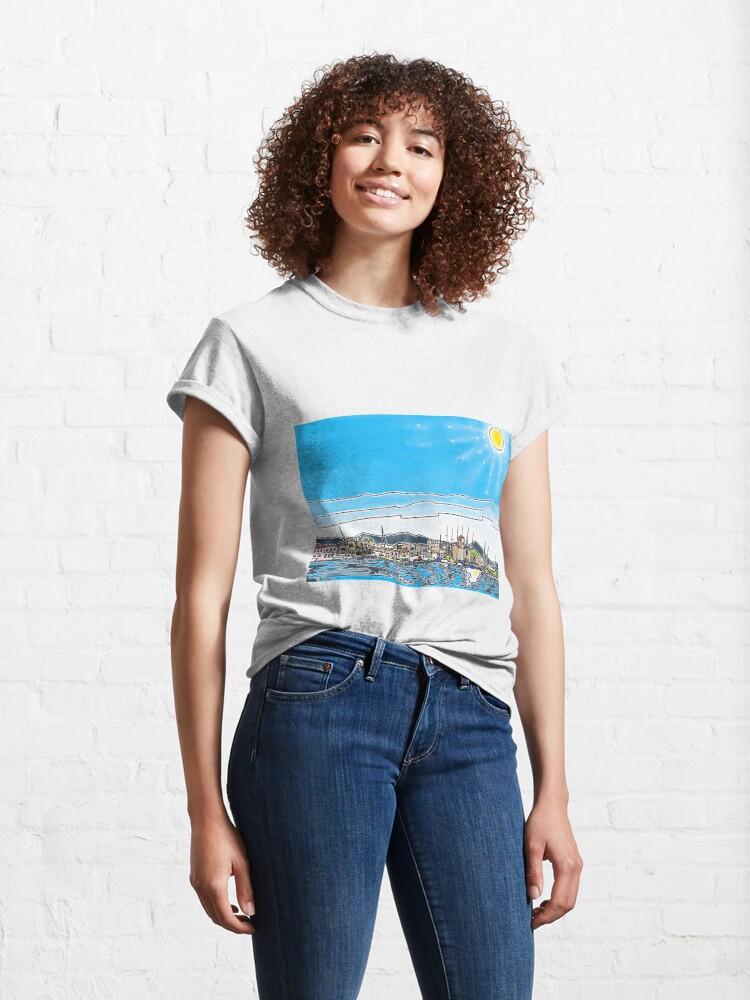 Alternate view of Aegina Harbour Classic T-Shirt