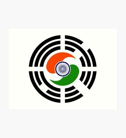 Korean Indian Multinational Patriot Flag Series Art Print