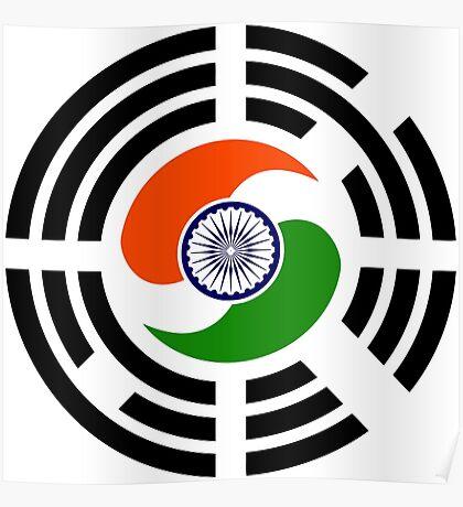 Korean Indian Multinational Patriot Flag Series Poster