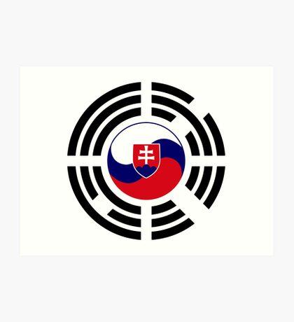 Korean Slovakian Multinational Patriot Flag Series Art Print