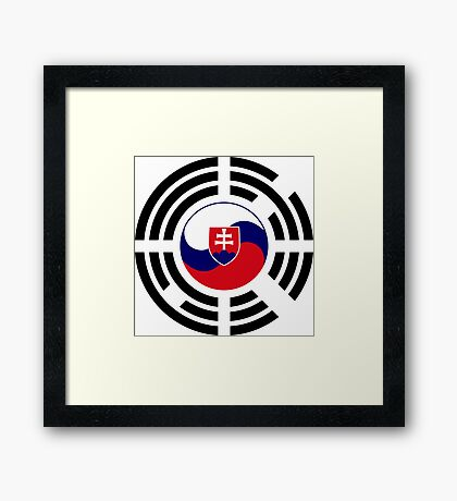 Korean Slovakian Multinational Patriot Flag Series Framed Print