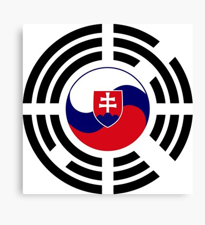 Korean Slovakian Multinational Patriot Flag Series Canvas Print