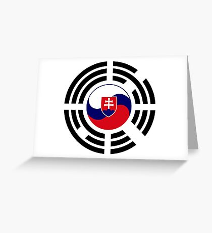 Korean Slovakian Multinational Patriot Flag Series Greeting Card