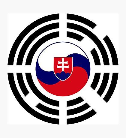 Korean Slovakian Multinational Patriot Flag Series Photographic Print