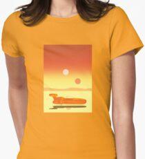 Landspeeder Poster Women's Fitted T-Shirt