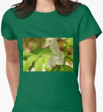 White Trillium Womens Fitted T-Shirt