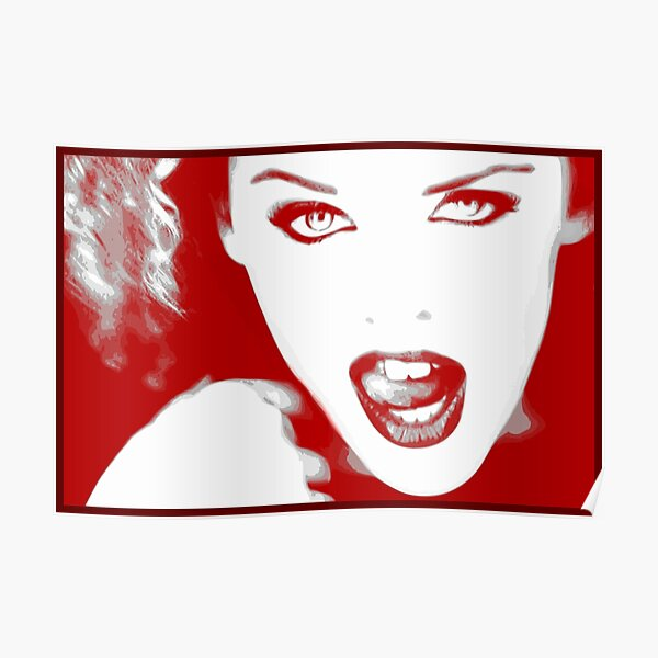 Kylie Minogue - Confide in Me (red) Poster