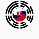 Korean Slovakian Multinational Patriot Flag Series by Carbon-Fibre Media