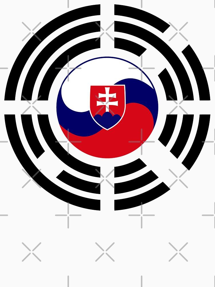 Korean Slovakian Multinational Patriot Flag Series by carbonfibreme