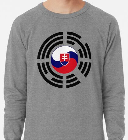 Korean Slovakian Multinational Patriot Flag Series Lightweight Sweatshirt