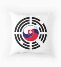 Korean Slovakian Multinational Patriot Flag Series Throw Pillow