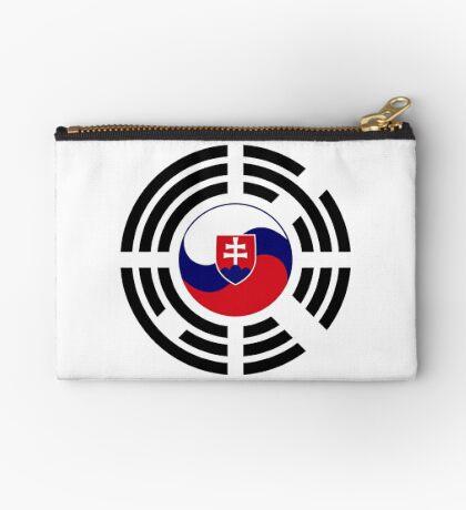 Korean Slovakian Multinational Patriot Flag Series Zipper Pouch