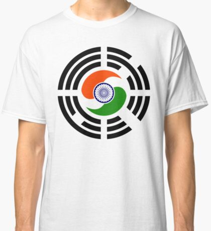 Korean Indian Multinational Patriot Flag Series Classic T-Shirt