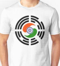 Korean Indian Multinational Patriot Flag Series Slim Fit T-Shirt