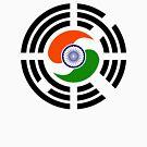 Korean Indian Multinational Patriot Flag Series by Carbon-Fibre Media