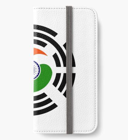 Korean Indian Multinational Patriot Flag Series iPhone Wallet