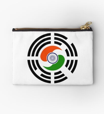 Korean Indian Multinational Patriot Flag Series Zipper Pouch