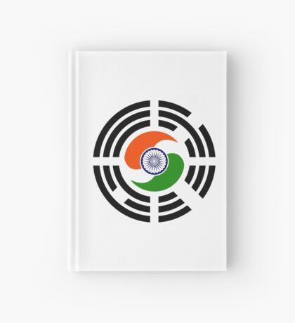 Korean Indian Multinational Patriot Flag Series Hardcover Journal