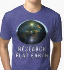 Research Flat Earth Tri-blend T-Shirt
