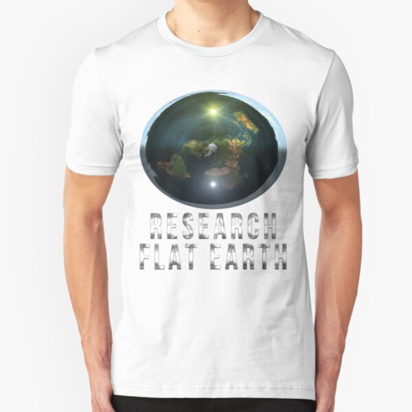 Research Flat Earth Slim Fit T-Shirt