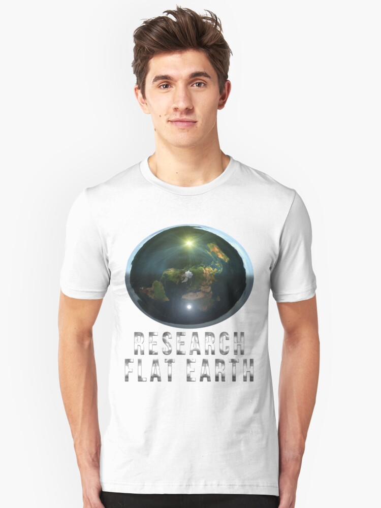 Alternate view of Research Flat Earth Slim Fit T-Shirt