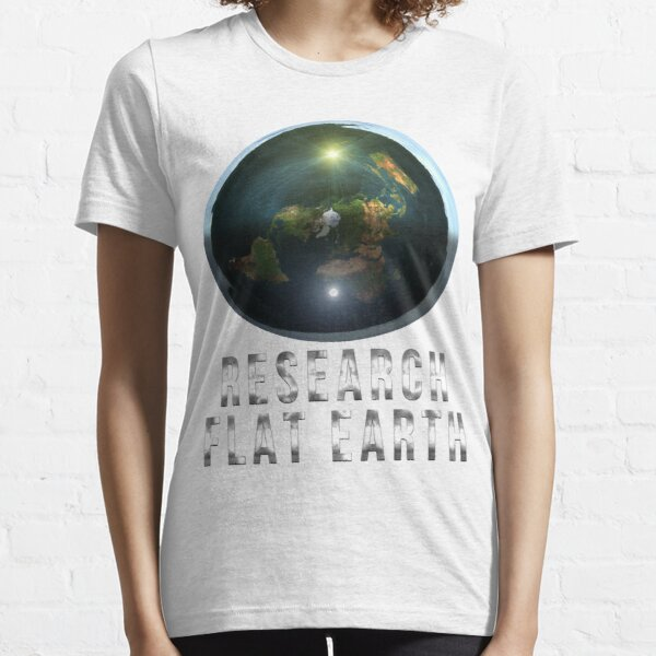 Research Flat Earth Essential T-Shirt
