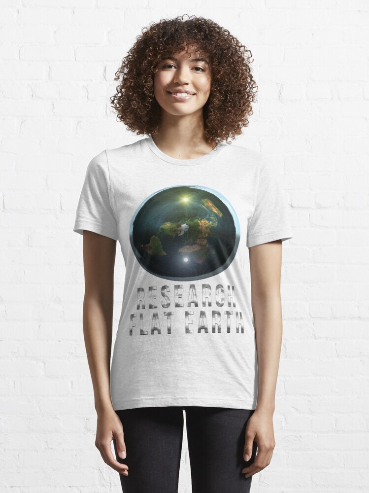 Alternate view of Research Flat Earth Essential T-Shirt