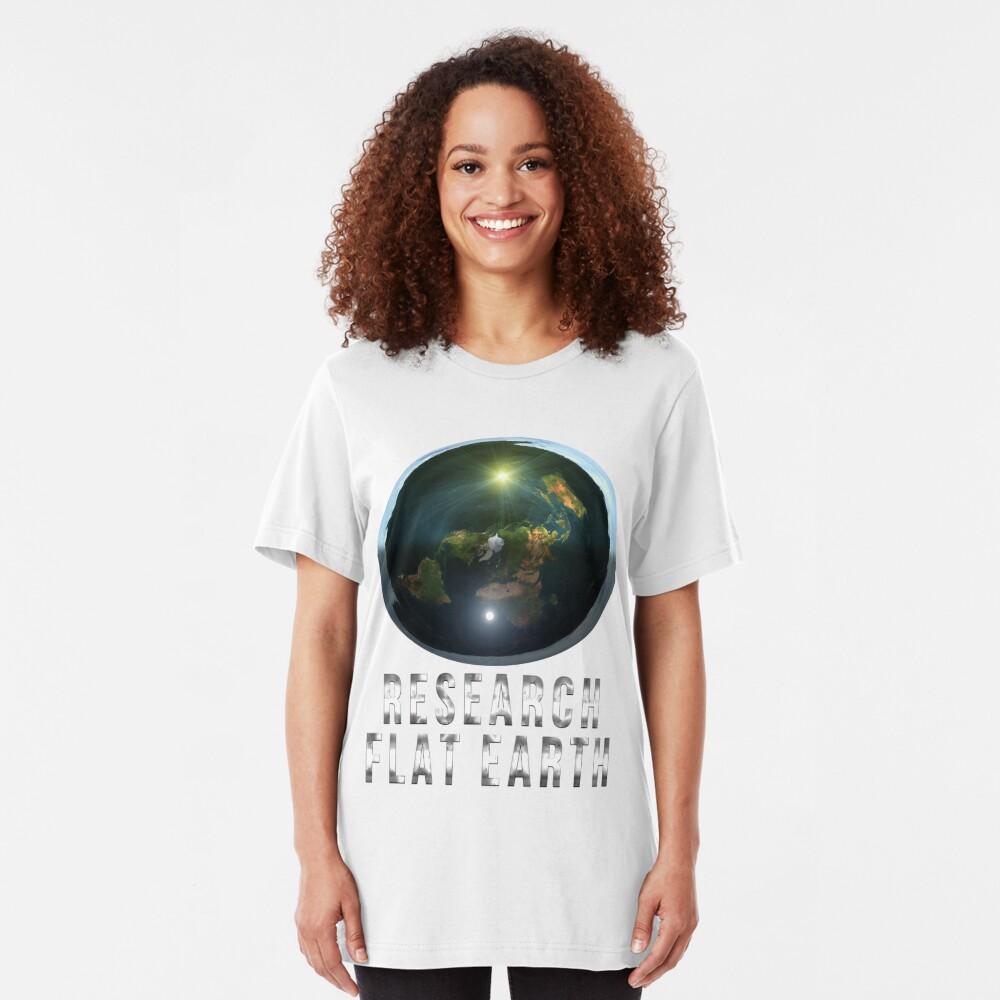Research Flat Earth Slim Fit T-Shirt