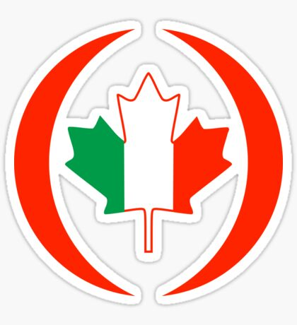 Irish Canadian Multinational Patriot Flag Series Sticker