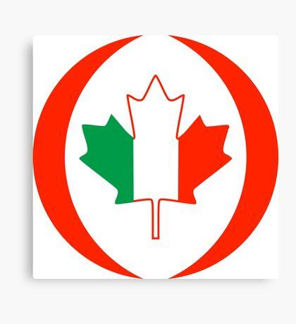 Irish Canadian Multinational Patriot Flag Series Canvas Print
