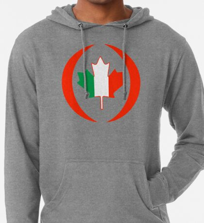 Irish Canadian Multinational Patriot Flag Series Lightweight Hoodie