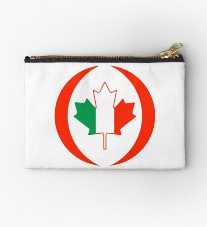 Irish Canadian Multinational Patriot Flag Series Zipper Pouch