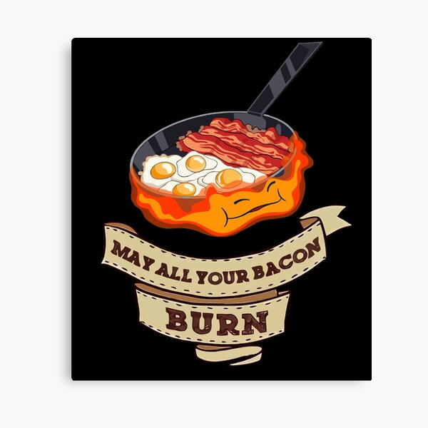 Calcifer. Que tout votre bacon brûle Impression sur toile