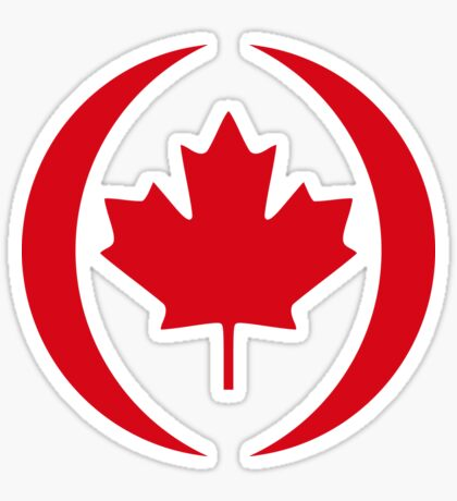 Canadian Patriot Flag Series 1.0 Sticker