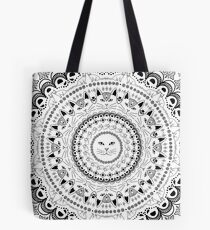 Kitty Cat Mandala Tote Bag