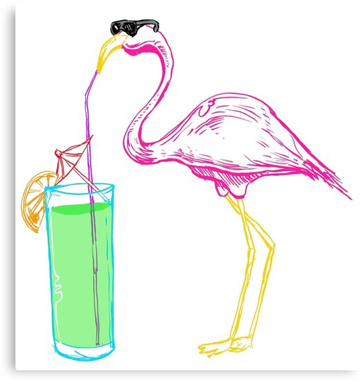 Flamingo Cocktail Party by capperflapper