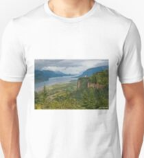 Crown Point, Vista House and Columbia River Unisex T-Shirt