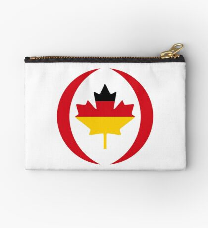 German Canadian Multinational Patriot Flag Series Zipper Pouch