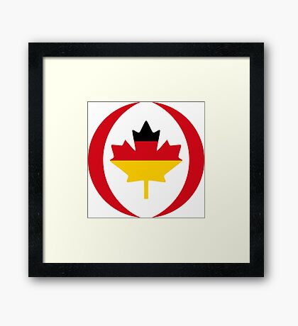 German Canadian Multinational Patriot Flag Series Framed Print