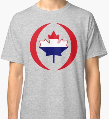 Dutch Canadian Multinational Patriot Flag Series Classic T-Shirt