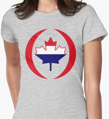 Dutch Canadian Multinational Patriot Flag Series T-Shirt