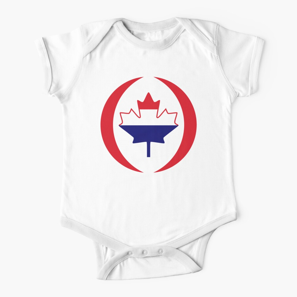 Dutch Canadian Multinational Patriot Flag Series Baby One-Piece