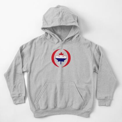 Dutch Canadian Multinational Patriot Flag Series Kids Pullover Hoodie