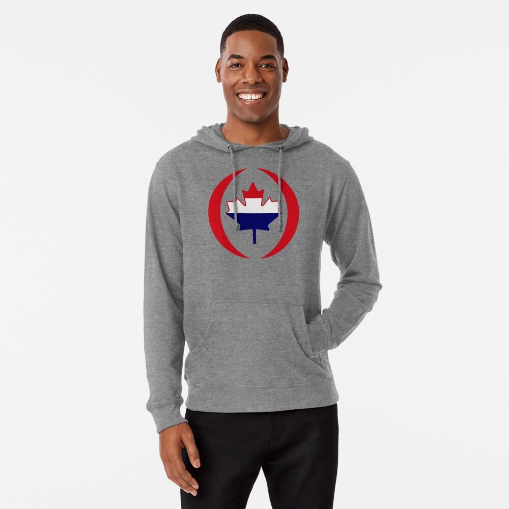 Dutch Canadian Multinational Patriot Flag Series Lightweight Hoodie