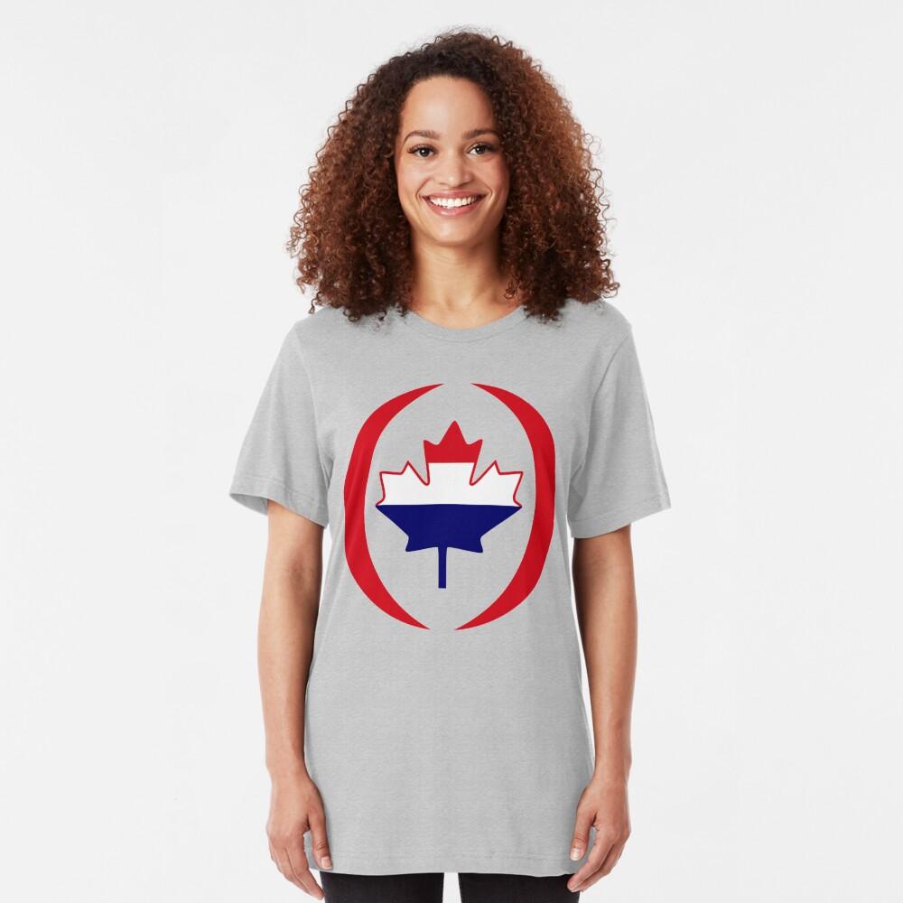 Dutch Canadian Multinational Patriot Flag Series Slim Fit T-Shirt