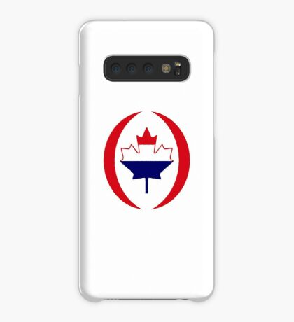 Dutch Canadian Multinational Patriot Flag Series Case/Skin for Samsung Galaxy